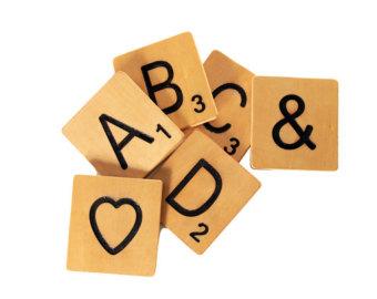 Scrabble tile clip art.