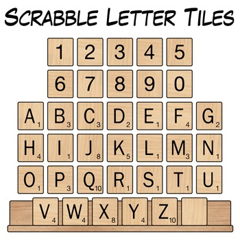 Scrabble Letter Tiles Clip Art.
