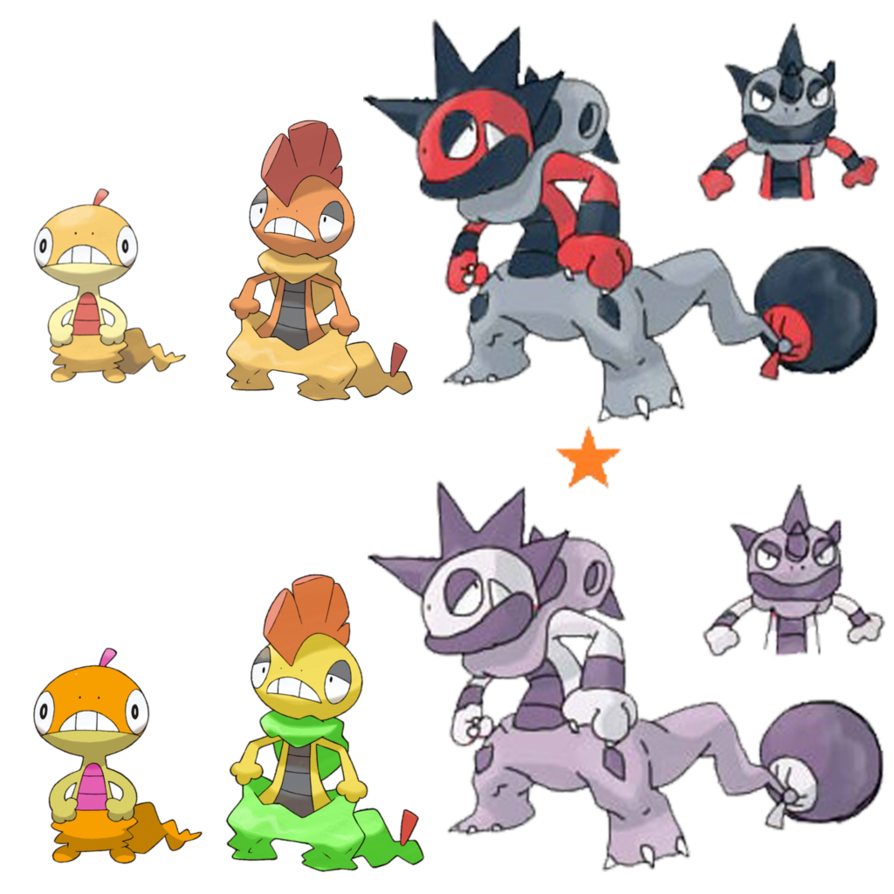 Scraggy Evolution by Midna.