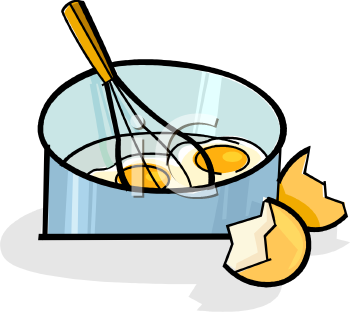 Beat eggs clipart.