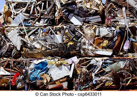 Stock Photographs of scrap metal scrap.