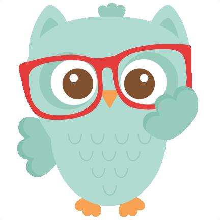 Nerdy Owl scrapbook cuts SVG cutting files doodle cut files for.