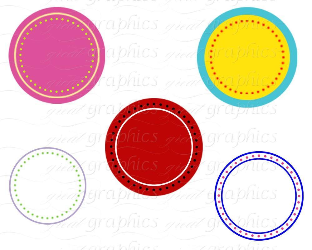 Circle Frame Digital Clipart Frame Clip Art Printable Dot Circle Clipart  Digital Frame Scrapbook Clip Art.
