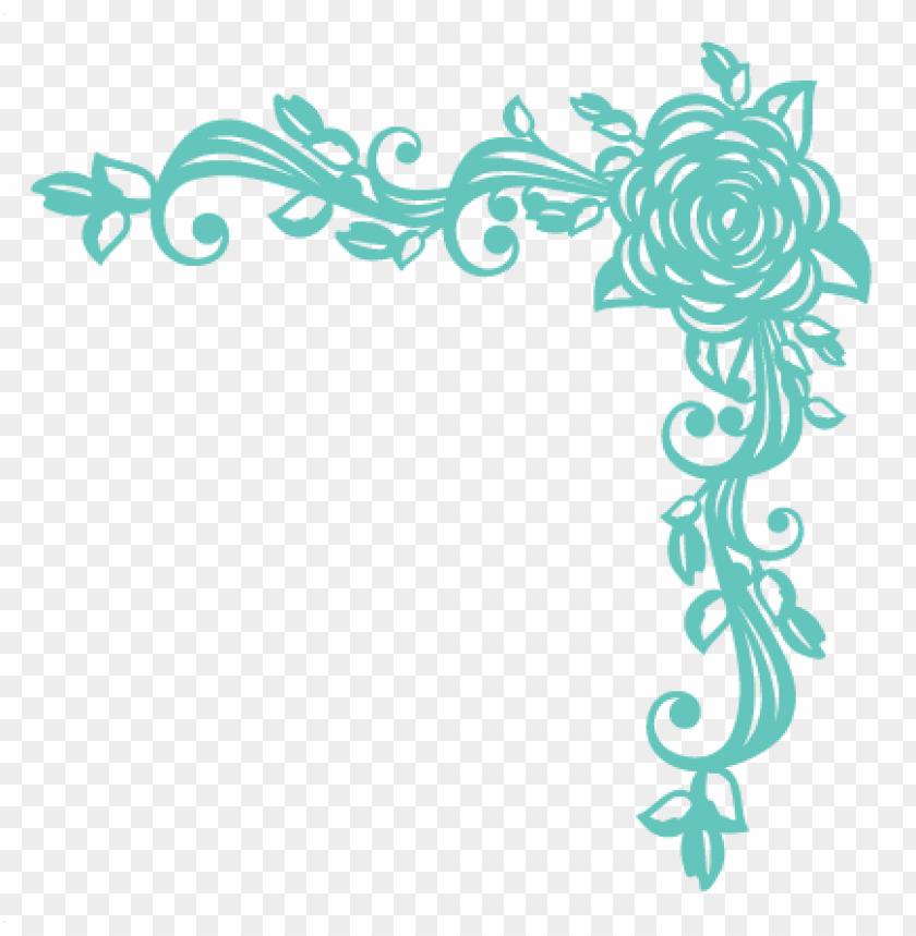 rose corner flourish svg scrapbook cut file cute clipart.