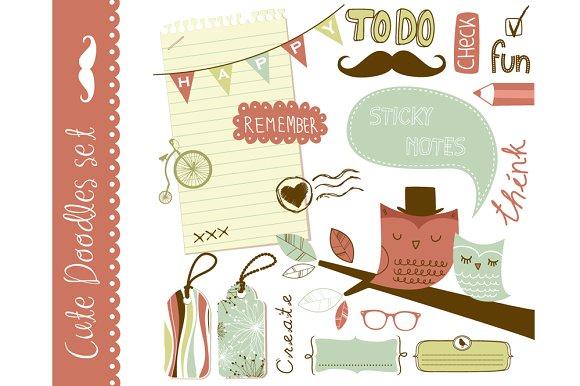 Cute clip art scrapbooking elements ~ Illustrations on Creative Market.