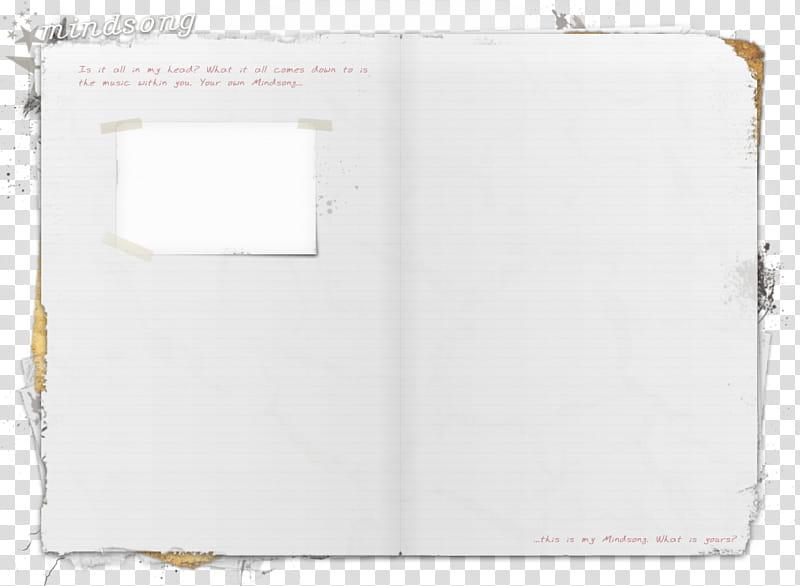 Paper , open scrapbook transparent background PNG clipart.