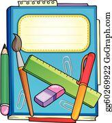Scrapbook Supplies Clip Art.