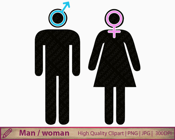 Man woman icon clipart boy girl symbol clip art by PiXXartPictures.