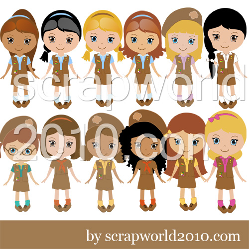 Brownie green daisy girl scout vector images.