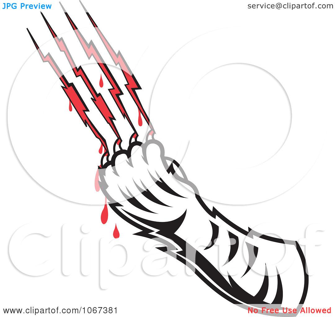 Cat scratch clipart.