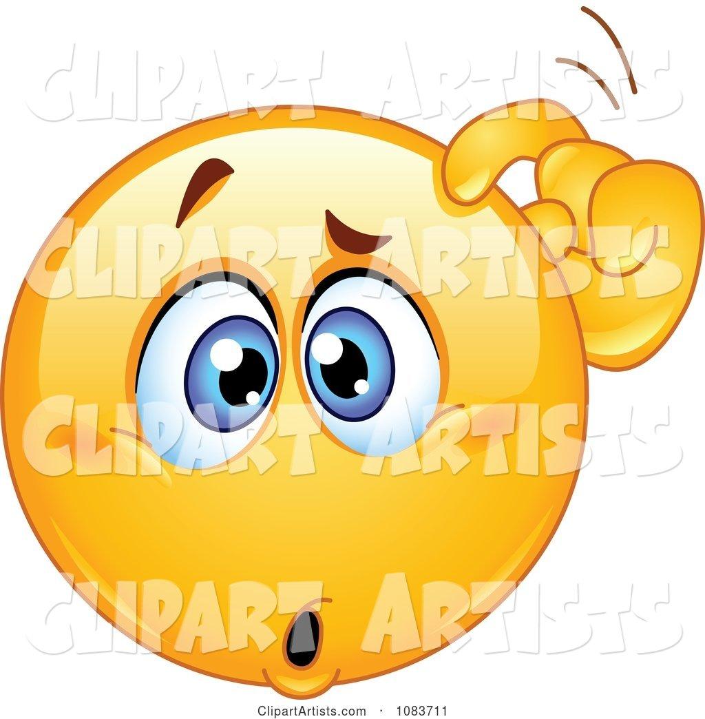 Confused Emoticon Smiley Scratching His Head Clipart by yayayoyo.