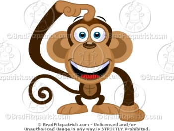 Monkey Scratching His Head Cartoon Picture? GREAT Pictures of.