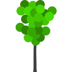 Tall skinny tree clipart.