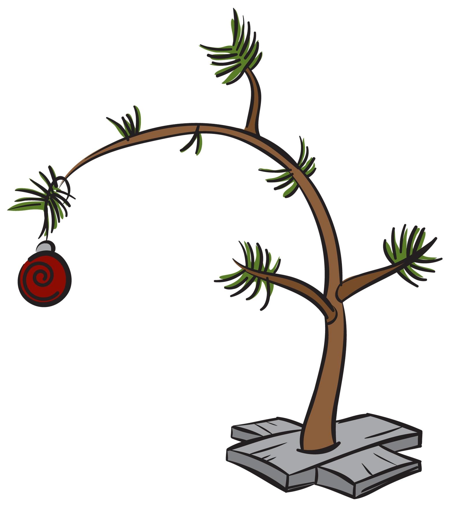 Dead christmas tree clipart.