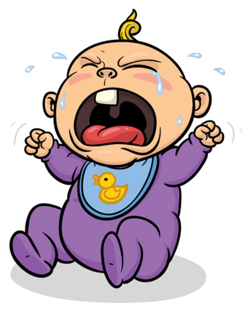 Cartoon Picture Of Baby Crying.