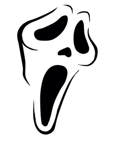Ghost Face Clipart.
