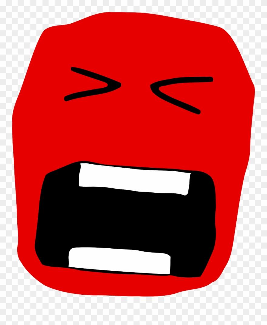 Screaming face clip art