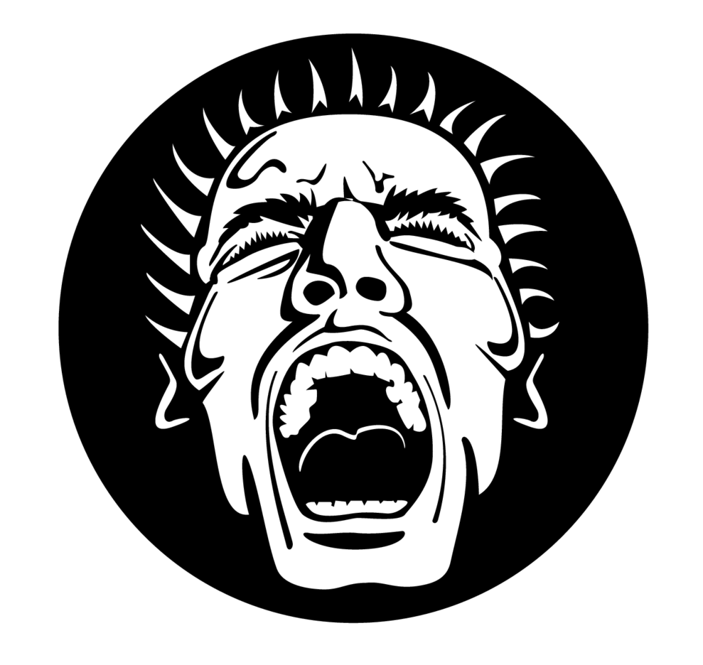 Screaming Face Vector Image.