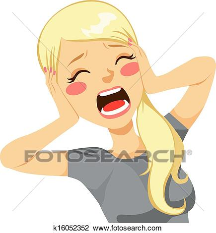 Screaming clipart woman screaming.