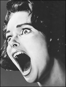 Screaming Woman Clip Art.