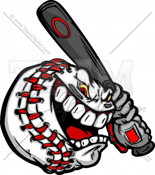 Screaming Baseball Clipart.