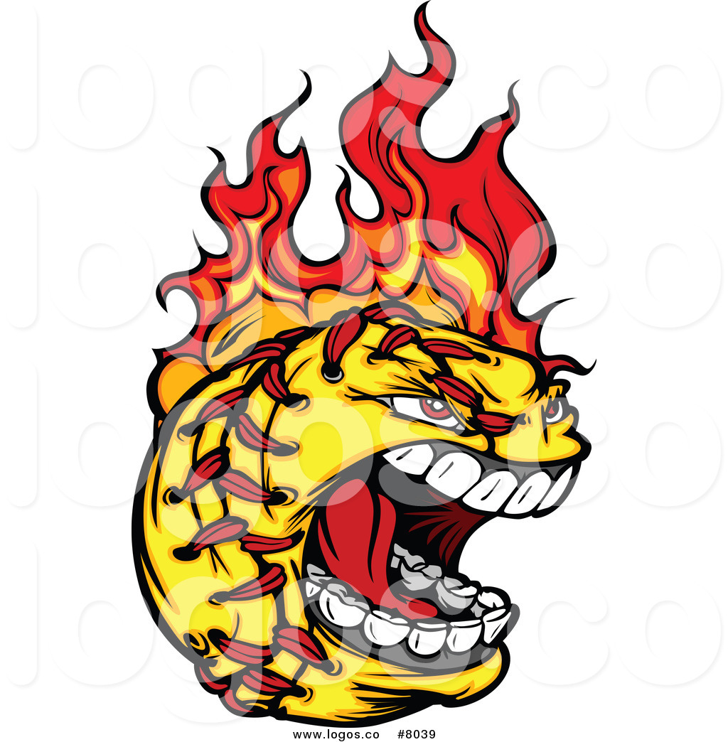 Royalty Free Clip Art Vector Logo of a Fiery Aggressive.