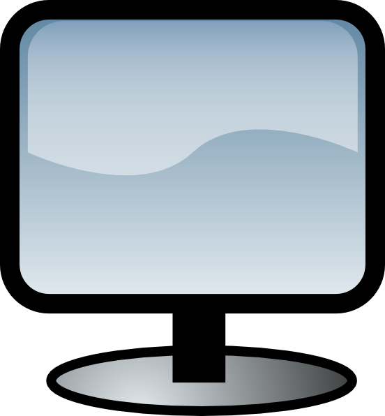 Flat Screen clip art (116676) Free SVG Download / 4 Vector.