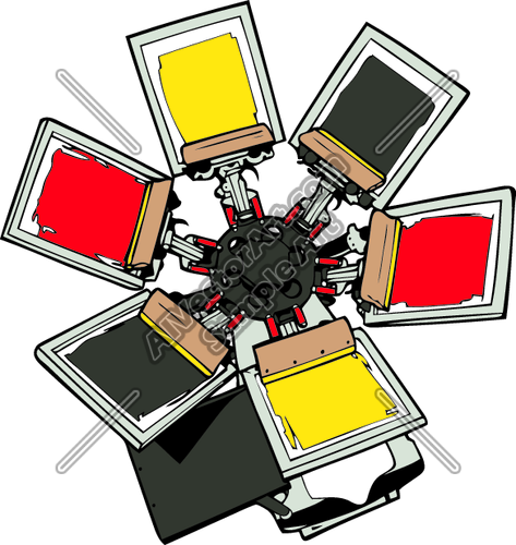 clipart graphic printing screen vector.