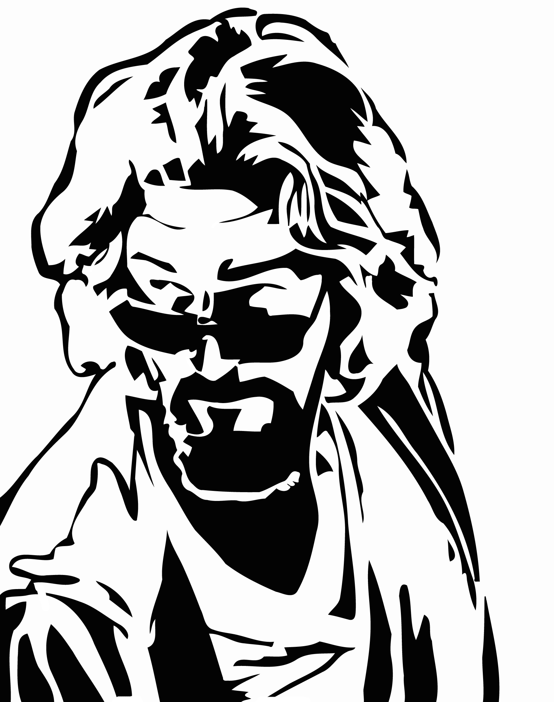 big lebowski dude stencil tshirt silk screen template http://www.