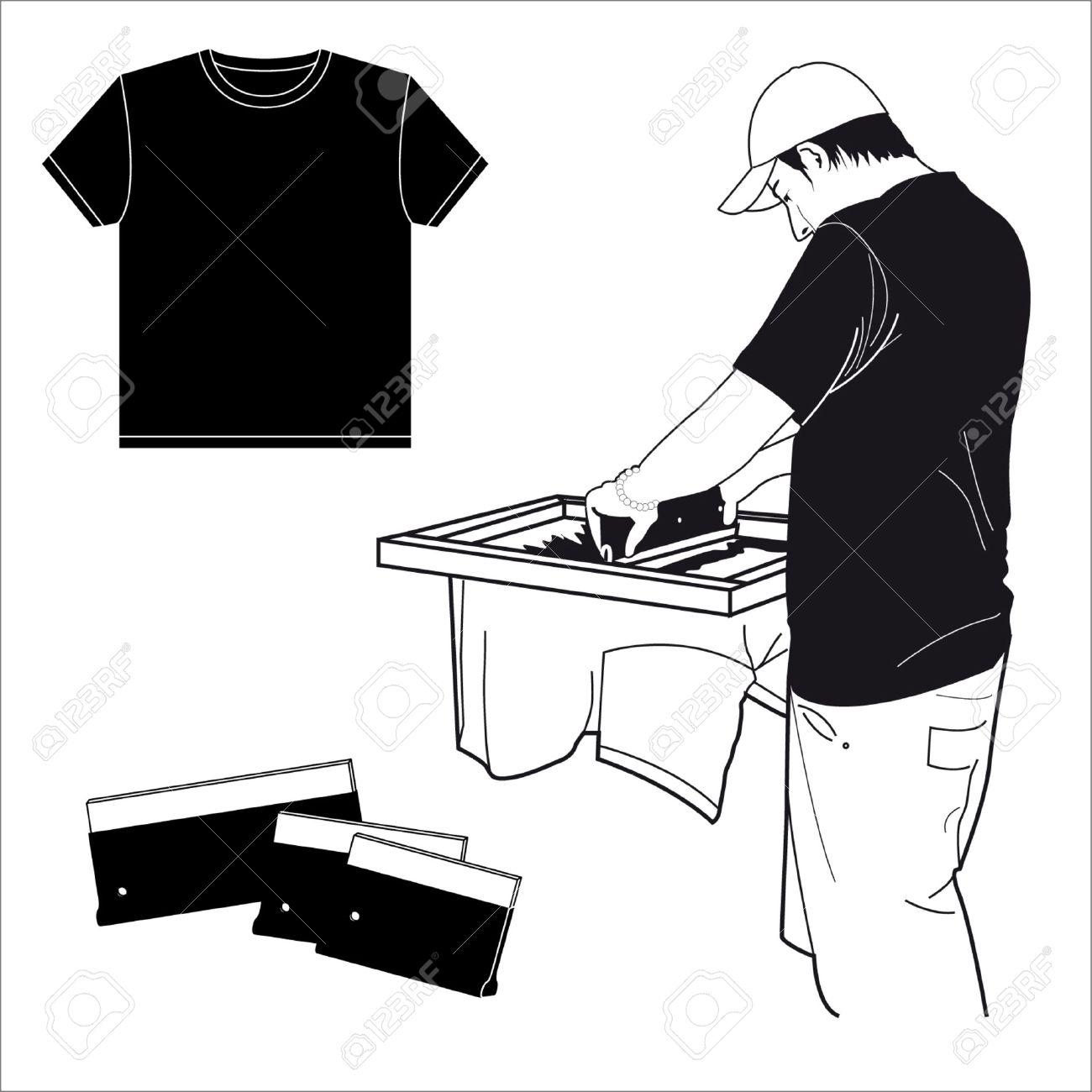Screen printing clipart 1 » Clipart Station.