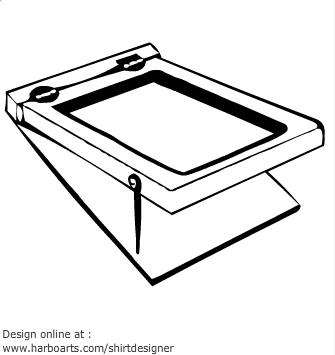 Silk Screen Printing Clipart.