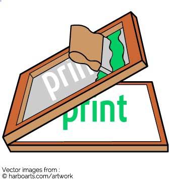 Download : Screenprinting illustration.