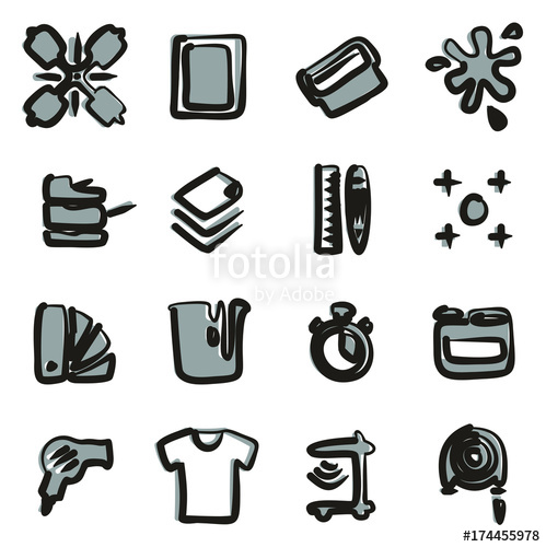 Screen Printing Icons\