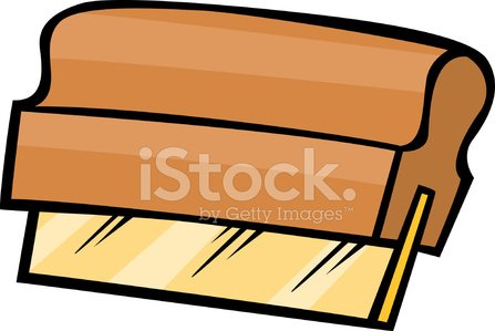 screen printing squeegee Clipart Image.