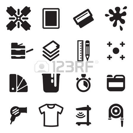 1,705 Screen Printing Cliparts, Stock Vector And Royalty Free.