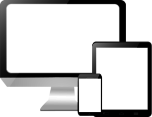Touch Screen Computer Clipart.