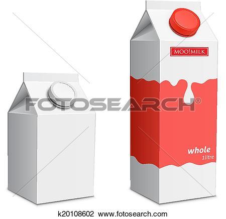 Clipart of Milk carton with screw cap k20108602.