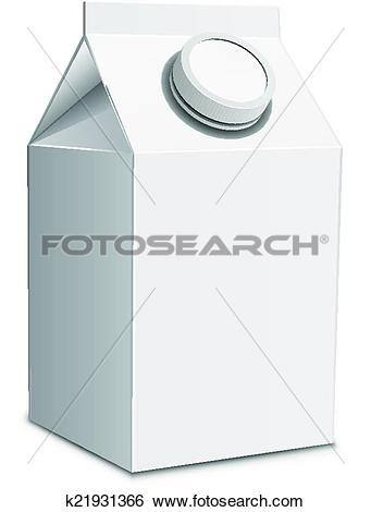 Clip Art of Milk carton with screw cap k21931366.