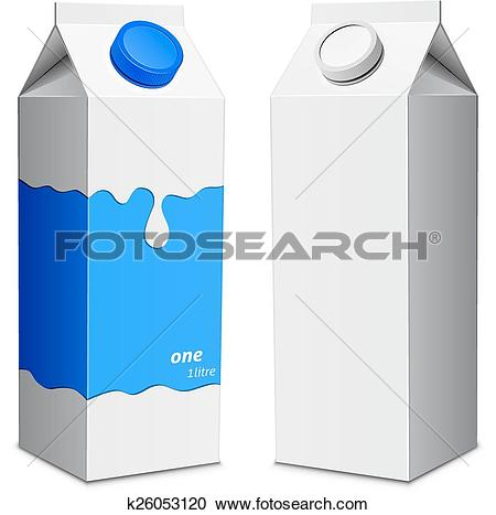 Clipart of Two milk carton with screw cap k26053120.