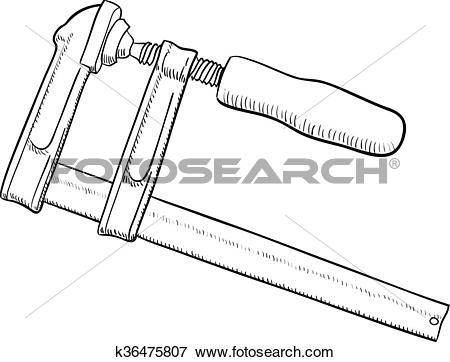 Clip Art of Carpentry screw clamp k36475807.