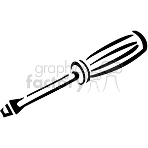 black and white screwdriver clipart. Royalty.