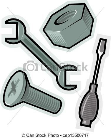 Vector Clip Art of Vector objects for screw.