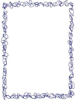 Clip Art:Scribble Doodle Borders/Frames Bundle (Set of 9).