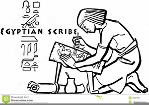 Egyptian Scribe Clipart.