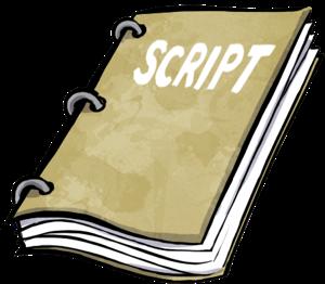 Play Script Clipart.