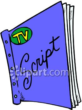 Television and script clipart image.