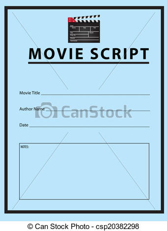 EPS Vectors of Movie script.