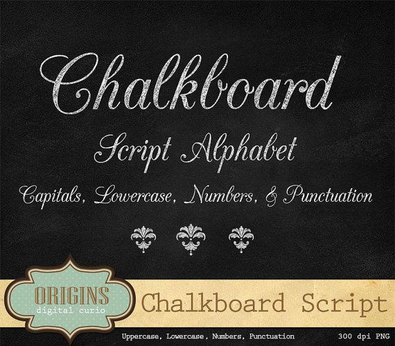 Chalkboard Script Alphabet.