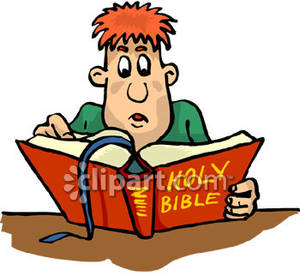 Family Scripture Study Clipart.