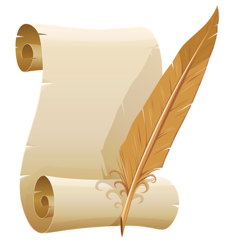 Scroll and quill clipart clipart images gallery for free.